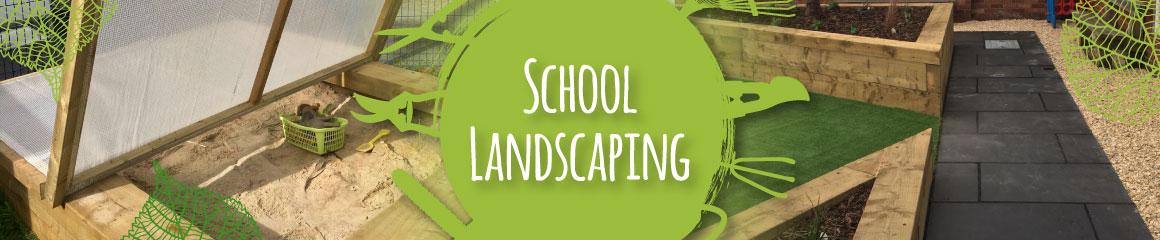 school landscaping contractor banner