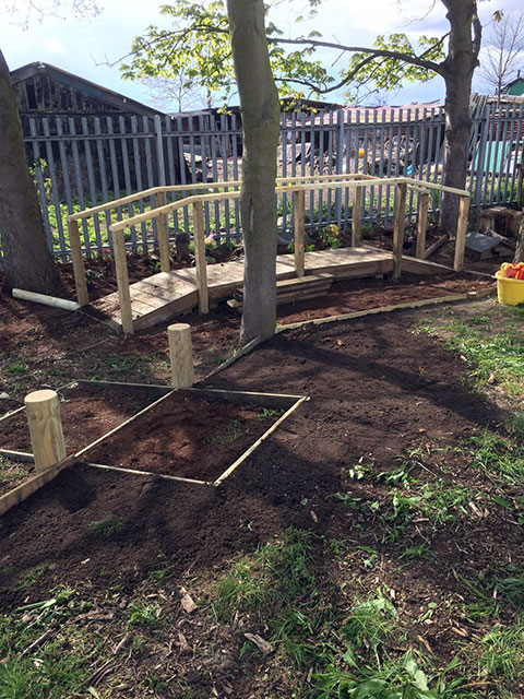 Birkwood Primary School Woodland Area Construction